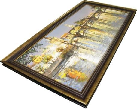 Оформление картин в деревянный багет